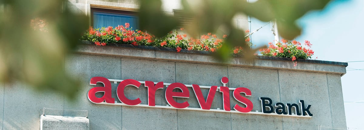 acrevis bank beschriftung